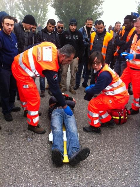 la lotta all'Ikea uno degli operai feriti