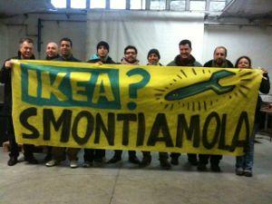 manifestazione operai Ikea Pisa