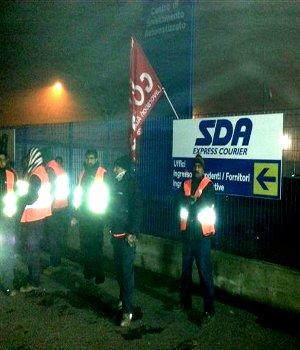 sciopero alla sda bologna