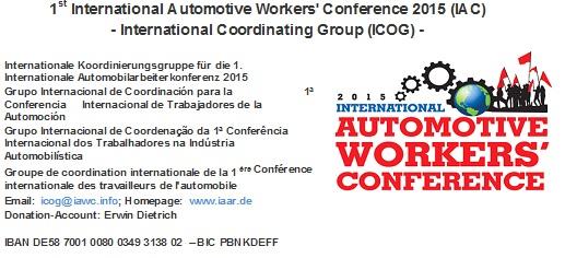 conferenza internazionale auto
