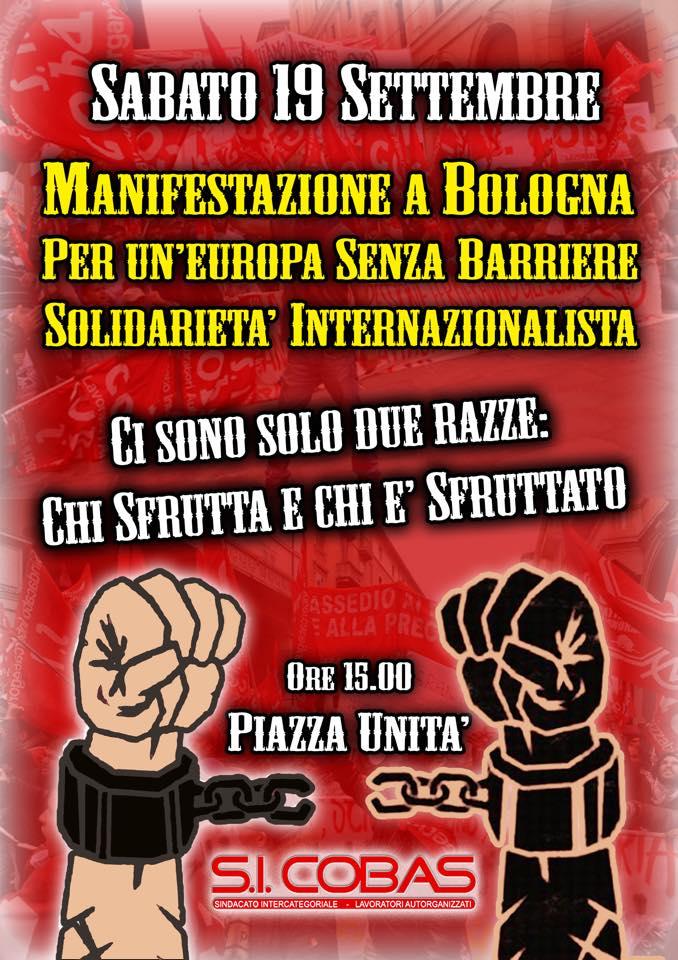 corteo antirazzista 9 settembre bologna