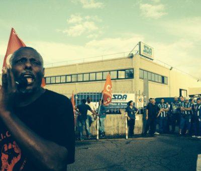 sciopero logistica sda a roma